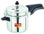 Prestige Deluxe Plus Stainless Steel Pressure Cooker, 3.5 Litres