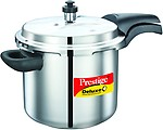 Prestige Deluxe Alpha Stainless Steel Pressure Cooker, 5.5 Litres