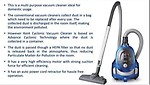 KENT CYCLONIC VACUUM CLEANER KC-T 3520
