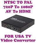 Gadget Hero Video Converter 720P/1080P AV + HDMI To HDMI Conversion Built in NTSC to PAL (Black)