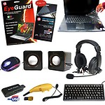 Complete Laptop Kit with Keyboard, Mouse, Speaker, Heaphones And Protector Kit