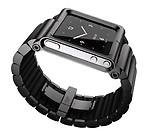 LunaTik LYNK Aluminum Wrist Band Watch Case For Apple iPod Nano 6 Gen (Black)