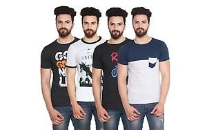 Stylogue Mens Casual Tshirt (Pack of 4)