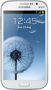NEW METTALIC BLUE SAMSUNG GALAXY GRAND DUOS I9082 with 2 FLIP COVER white & Blue price in India.
