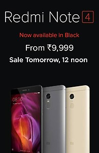 Redmi Note 4 Sale Today :12 Noon