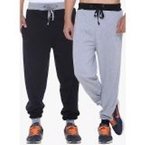 Multicoloured Solid Track Pants (Pack Of 2)