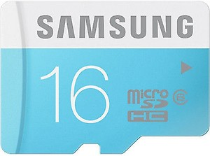 Samsung MB-MS16D MicroSDHC 16GB Class 6 Memory Card price in India.