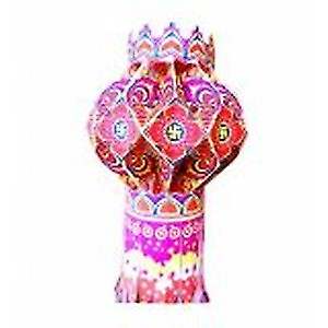 Diwali kandil eco friendly lamp multi colour made by paper
