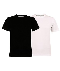 Clifton Fitness Tag Men's R-Neck T-Shirt- White- Black (Buy 1 Get 1)