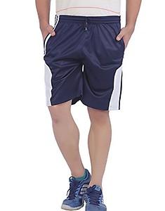American Crew Men's Polyester Navy Blue Shorts @Flat 70% OFF!