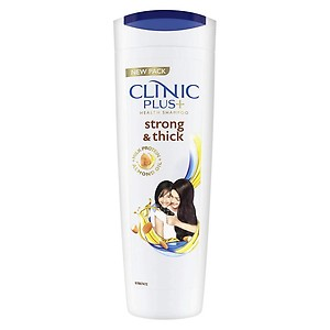 Clinic Plus Strong & Extra Thick Shampoo With Milk Protein And Almond Oil For Hair Strengthening & Volume, 340 ml
