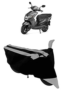 HEMSKAR® Presents Water-Resistant Motorbike/Scooty Cover for Honda Dio Polyester Fabric (Grey)