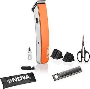 NOVA NHT 1047 O Runtime: 45 min Trimmer for Men(Orange) price in India.