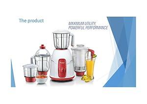 Prestige ELEGANT 750 W Juicer Mixer Grinder(Red, 4 Jars) price in India.