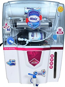 Blair AUDI RO UV TDS UF 17 L RO + UV + UF + TDS Water Purifier(White) price in India.