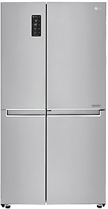 LG 687 L Frost Free Side by Side Refrigerator(Shiny Steel/Platinum Silver/VCM-PLATINUM SILVER, GC-M247CLBV) price in India.