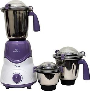 BAJAJ New Trio LV 600 W Mixer Grinder (3 Jars, Lavender, White) price in India.