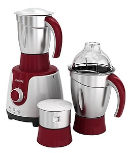 Philips HL7710 /00 600 W Mixer Grinder(Red, White, 3 Jars) price in India.