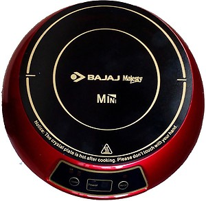 Bajaj Majesty Mini Induction Cooktop(Red, Push Button) price in India.