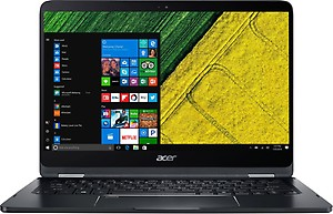 Acer Spin 7 Core i7 7th Gen - (8 GB/256 GB SSD/Windows 10 Home) SP714-51 Laptop(14 inch, Black) price in India.