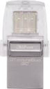 Kingston DataTraveler MicroDuo 3C 32GB Flash Drive (Gray) price in India.