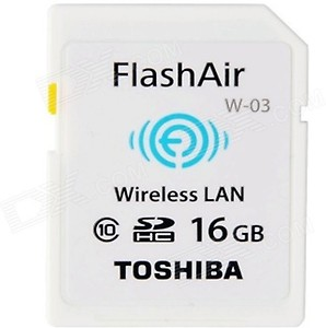 Toshiba Wireless Lan 16 GB SDHC Class 10 20 MB/s Memory Card price in India.