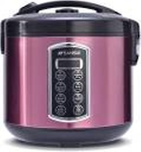 Sansui Deluxe Plus Electric Rice Cooker with Steaming Feature(1.8 L, Lavender)