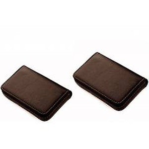 Stealodeal Brown Leather Card Holder