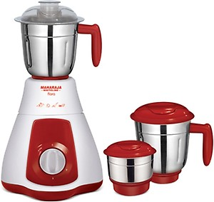 Maharaja Whiteline jx4 Flora 550 W Mixer Grinder(Red And White, 3 Jars) price in India.