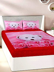velvet double bedsheet with 2 pillow covers