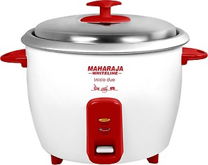 Maharaja Whiteline Inicio DUO (RC -102) Electric Rice Cooker with Steaming Feature(1.8 L, Red, White) price in India.