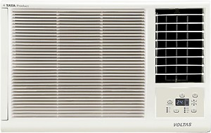 Voltas 1 Ton 3 Star Window AC - White  (123LZF/123LZF (R32), Copper Condenser) price in India.
