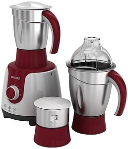 Philips HL7720/00 750 W Mixer Grinder(Red, White, 3 Jars) price in India.
