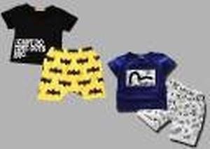 Baby Boys Batman Casual T-shirt Shorts(Multicolor)