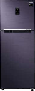 Samsung 394 L 2 Star (2019) Frost Free Double Door Refrigerator(RT39M5538UT/TL, Pebble Blue, Convertible) price in India.