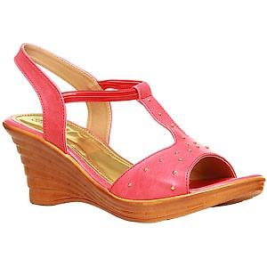 Bata Pink Sandals For Women