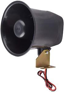 BLP 12V 15W Car Loud Speaker Electronic Warning Siren Motorcycle Security Warning Megaphone Police Fire Horn Alarm (Black)