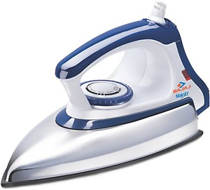 Bajaj Majesty DX 11 1000-Watt Dry Iron (Blue/White) price in India.