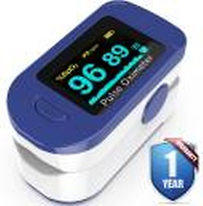 K-life Model FTP 103 Fingertip Heartrate Monitor Oxygen Saturation Oxy meter Pulse Rate Check machine Pulse Oximeter(Blue,White)