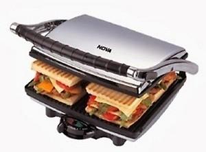 Nova NT 233 HDG 750-Watt 4-Slice Grill Sandwich Maker (Black/Grey) price in India.