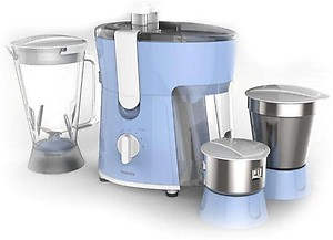 Philips Amaze HL7576/00 600-Watt Juicer Mixer Grinder with 3 Jars (Celestial Blue/Bright White) price in India.