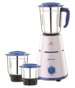 Bajaj Pluto Mixer Grinder, 500W, 3 Jars (White) price in India.