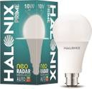 Halonix 10W Round B22 Neo Radar Motion Sensor bulb Pack of 1(White)