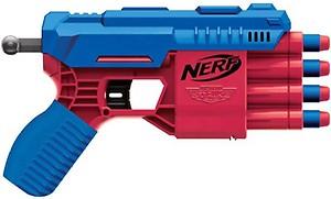 Nerf Alpha Strike Claw QS-4 Blaster and 4 Official Elite Foam Darts -4-Dart Blasting - Easy Load-Prime-Fire Guns & Darts(Multicolor)