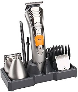 Kemei KM-580-A Runtime: 45 min Trimmer for Men  (Silver) price in India.