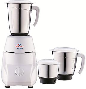 Bajaj TORNADO 550W Mixer Grinder ( White , 3 Jars ) price in India.