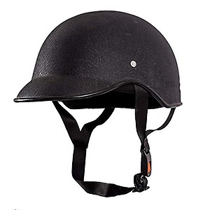 Shiv All Purpose Safety Helmet with Strap for Bikes (Black, Free Size)
