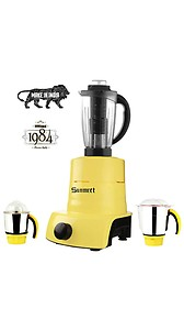 Sunmeet Yellow Color 750Watts Mixer Juicer Grinder with 3 Jar (1 Juicer Jar with Filter, 1 Medium Jar and 1 Chuntey Jar)-01 price in India.
