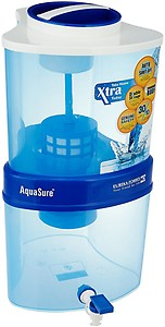 Eureka Forbes Aquasure Xtra Tuff EOL 15 L Gravity Based Water Purifier(White, Blue) price in India.