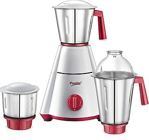 Prestige Nakshatra plus 750 W Mixer Grinder  (white and red, 3 Jars) price in India.